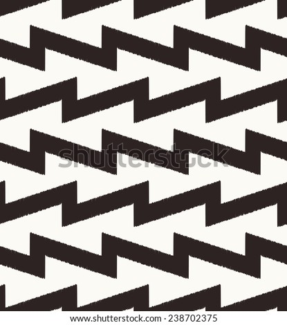 seamless black zigzag pattern - stock vector
