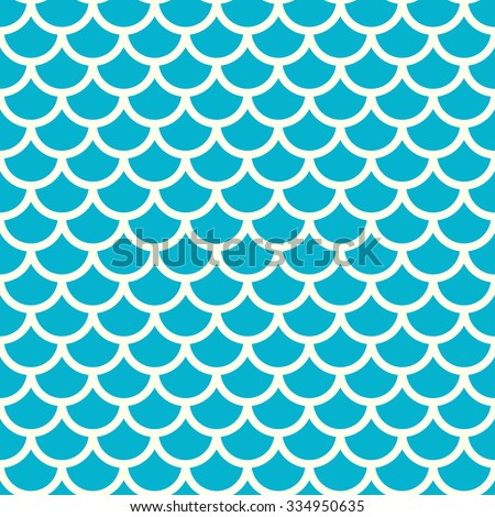 Seamless blue and grey fish pattern, fish scale background - vector illustration - stock vector