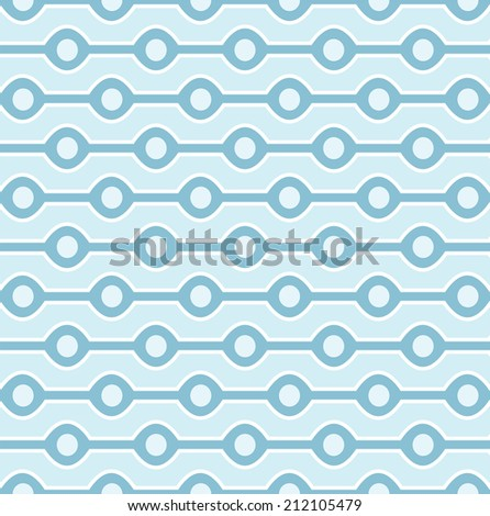Seamless blue circles background pattern - stock vector