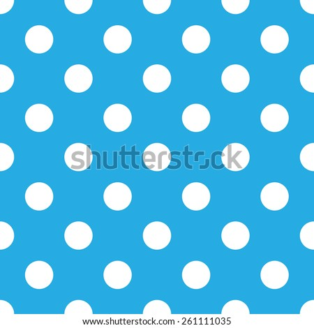seamless blue polka dot background - stock vector