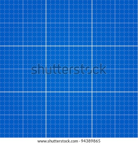 Seamless Blueprint Background with pattern swatch in EPS file - stock vector
