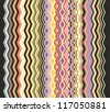 seamless border pattern - stock vector