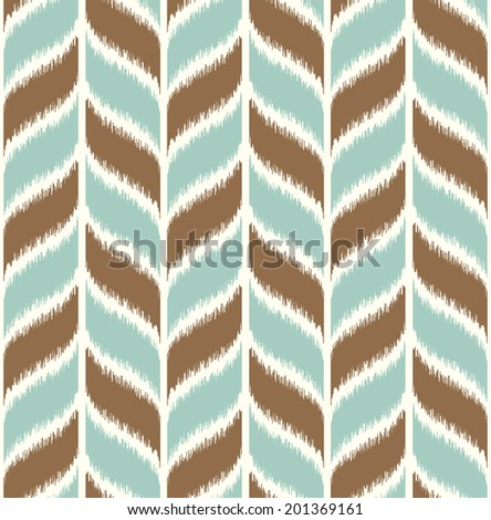 seamless braid wave pattern - stock vector