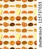 seamless bread pattern,cartoon vector illustration - stock vector