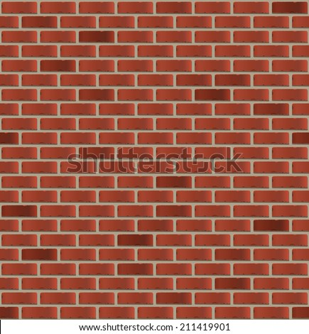 Seamless brick wall. Vector illustration - stock vector