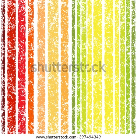 Seamless bright grunge style shabby full color stripe pattern. Vector illustration for your design.
