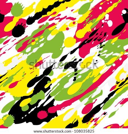 Seamless bright splash pattern. Vector illustration - stock vector