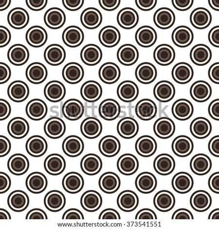 Seamless brown abstract modern concentric circles texture, background pattern