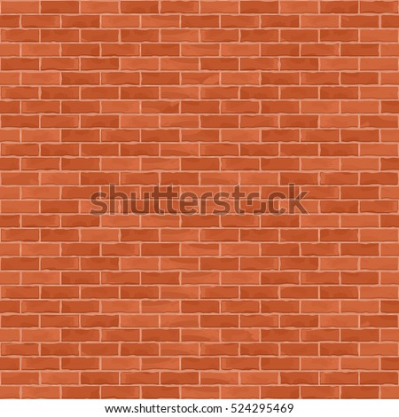 Seamless brown brick wall background, vector eps10 illustration