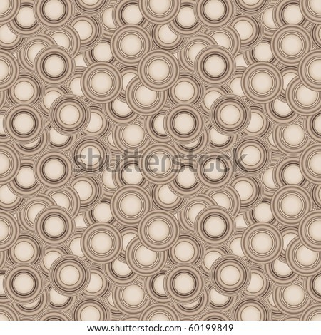 Seamless brown texture with circles
