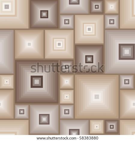 Seamless brown tile vector pattern - stock vector
