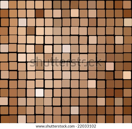 Seamless brown tiles mosaic background