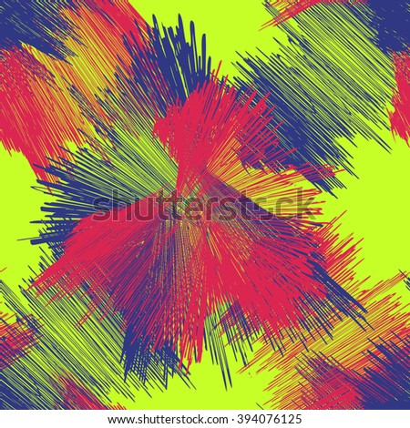 seamless brush stroke pattern. acid colors
