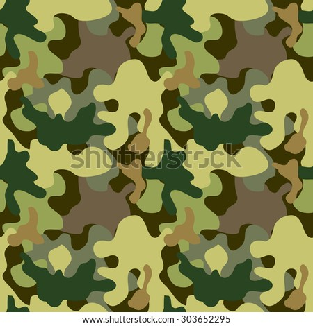 Seamless camouflage pattern. Expressive forest shadow palette. Military textile collection. Abstract vector background. Light green, dark green, khaki, grey. Backgrounds & textures shop. - stock vector