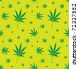 seamless cannabis leaf pattern - illustration - stock vector