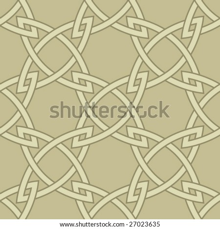 Seamless Celtic background pattern - stock vector