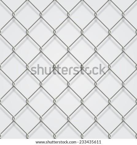 Seamless chain fence background with shadow. - stock vector