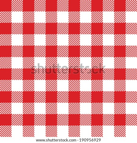 Seamless checked blue and white pattern. Vector illustration - stock vector