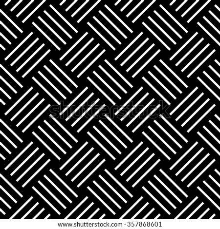 Seamless checked pattern. Geometric diagonal texture. Vector art. - stock vector