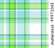 Seamless Checkered Green Blue Color Vector Pattern - stock photo