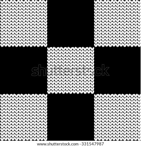 Seamless checkered knitted pattern black white stock vector seamless checkered knitted pattern black and white backgrounds textures shop dt1010fo