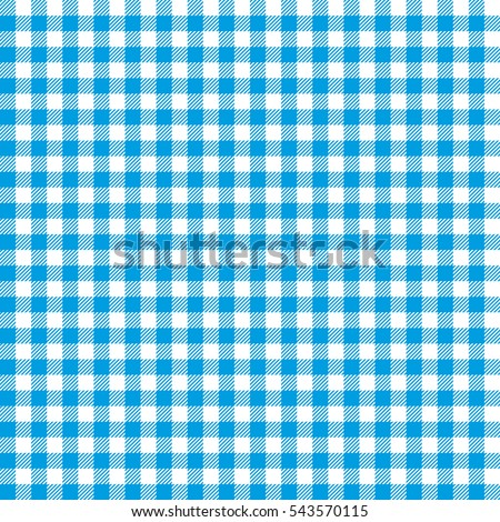 Seamless Checkered Seamless Pattern. Blue And White Tablecloth Background.  Picnic Gingham Cloth Template.