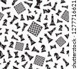 seamless chess vector pattern...