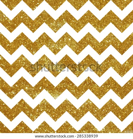 Seamless chevron pattern with golden texture. - stock vector