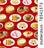 seamless chinese food pattern - stock vector