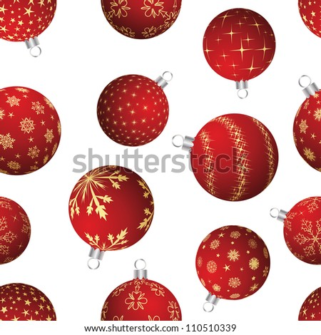 Seamless christmas and new year elements background. Vector illustration. - stock vector