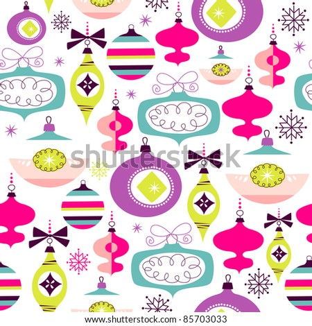 Seamless Christmas background - stock vector