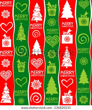 Seamless christmas background. Merry christmas wallpaper. Vector illustration