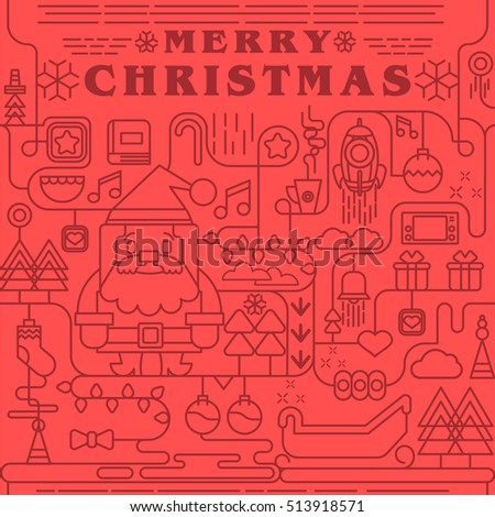 Seamless Christmas pattern, Merry Christmas and New Year seamless tiling, illustrator Vector