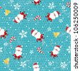 Seamless Christmas pattern on grunge background. EPS 10 vector illustration - stock vector