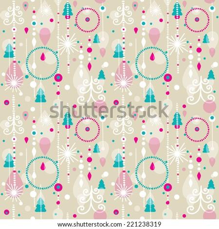 Seamless christmas pattern. vector illustration - stock vector