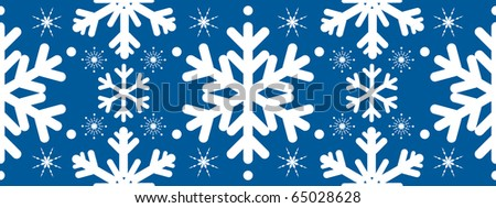 Seamless christmas pattern with snowflakes - stock vector