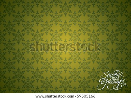 Seamless Christmas Snowflakes Wallpaper - stock vector