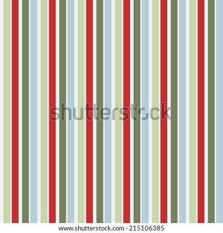 Seamless Christmas Stripes Vector Pattern Background - stock vector