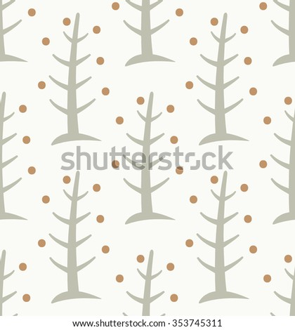 Seamless Christmas Tree Vector Pattern