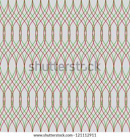 Seamless christmas vector abstract wave pattern - stock vector