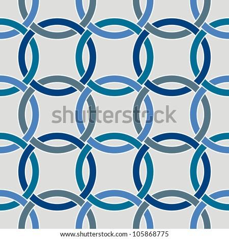 Seamless circle geometric pattern - stock vector