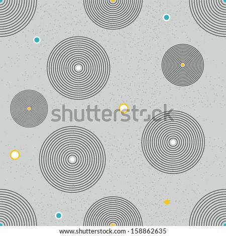 Seamless circle wallpaper. circle decor background vector. - stock vector