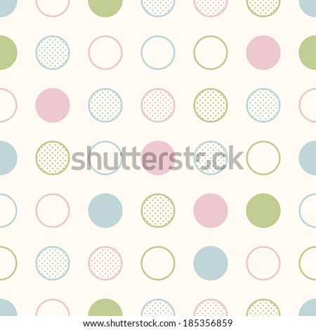 seamless circles background print - stock vector