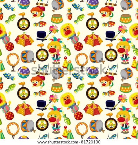 seamless circus pattern - stock vector
