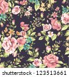 seamless classic wallpaper vintage flower pattern background - stock vector