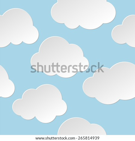 Seamless clouds background. - stock vector