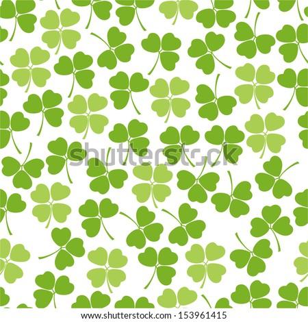 Seamless clover background for textiles, interior design, for book design, website background. - stock vector