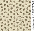 seamless coffee seed texture  vector illustration - stock photo