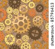 Seamless cogs background. Vector illustration - stock vector