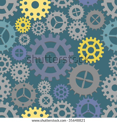 Seamless cogs background. Vector illustration